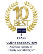 10 Best | 2016-2017 | 2 Years Client Satisfaction | America Institute of Family Law Attorneys